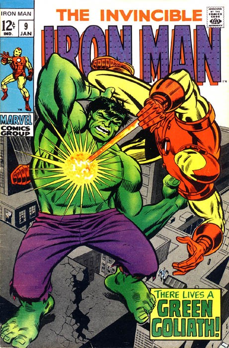 Couverture de Iron Man Vol.1 (Marvel comics - 1968) -9- There Lives a Green Goliath!