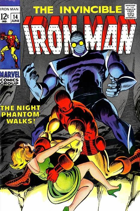 Couverture de Iron Man Vol.1 (Marvel comics - 1968) -14- The Night Phantom Walks!