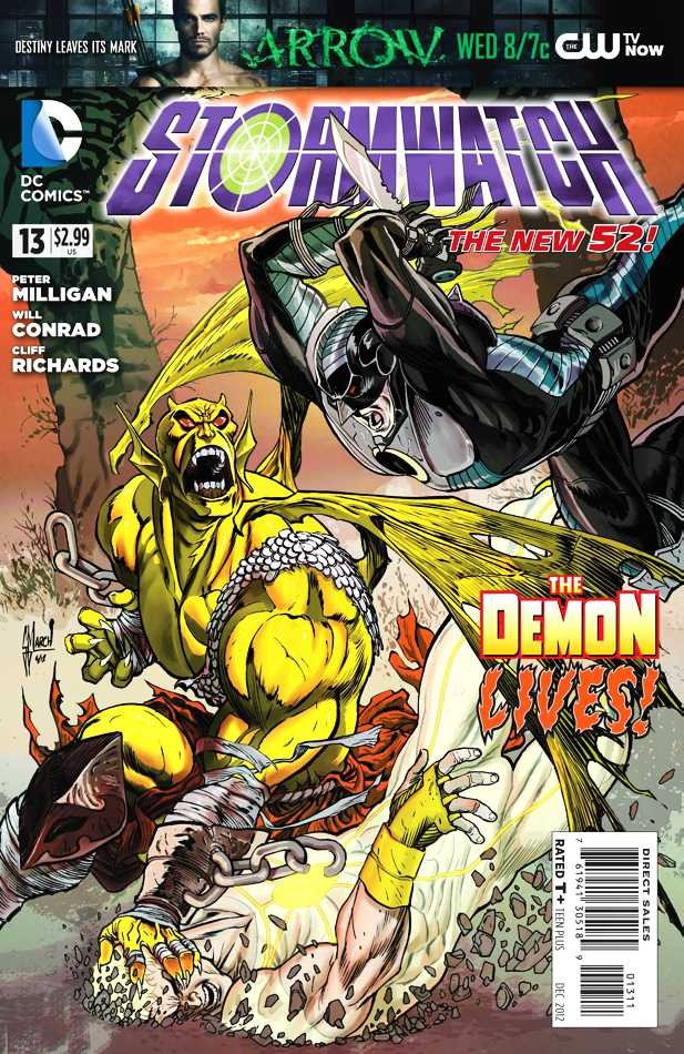 Couverture de Stormwatch (2011) -13- The Rise of the Demon, Part One