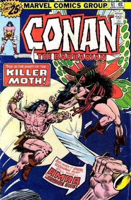 Couverture de Conan the Barbarian Vol 1 (Marvel - 1970) -61- On the track of the She-pirate!