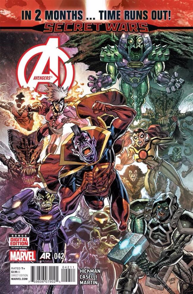 Couverture de Avengers Vol.5 (Marvel comics - 2013) -42- It All Comes Crashing Down