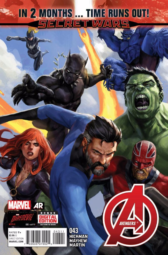 Couverture de Avengers Vol.5 (Marvel comics - 2013) -43- And All That's Left Is Ashes