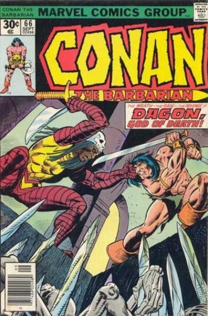 Couverture de Conan the Barbarian Vol 1 (Marvel - 1970) -66- Daggers and death-gods!
