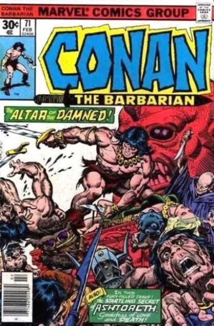 Couverture de Conan the Barbarian Vol 1 (Marvel - 1970) -71- The secret of Ashtoreth!