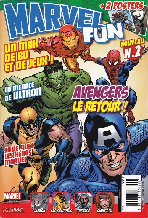 Couverture de Marvel Fun -2- Avengers le retour