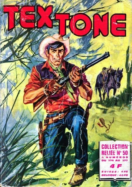 Couverture de Tex-Tone -Rec50- Collection reliée N°50 (du n°374 au n°377)