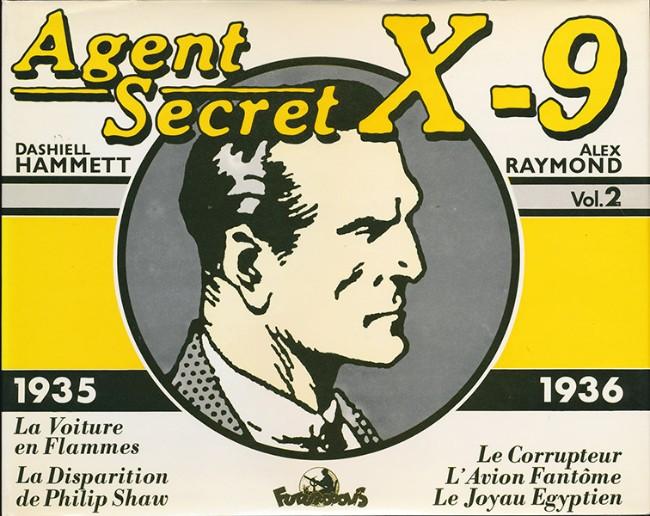 Couverture de Agent secret X-9 (Futuropolis) -INT2- Integrale Vol.2 - 1935/1936