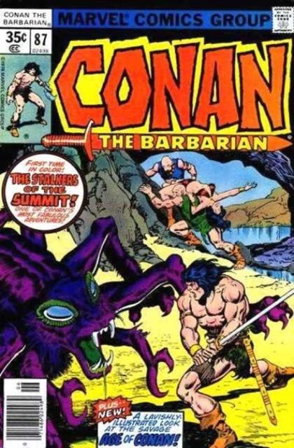 Couverture de Conan the Barbarian Vol 1 (Marvel - 1970) -87- Demons at the summit!