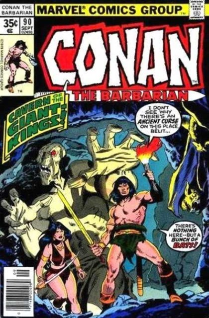 Couverture de Conan the Barbarian Vol 1 (Marvel - 1970) -90- The diadem of the giant-kings!