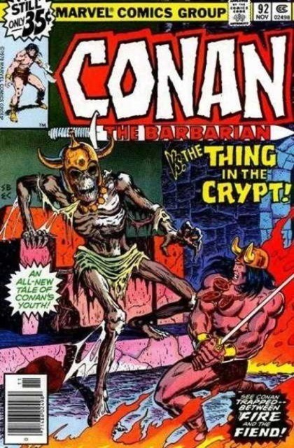 Couverture de Conan the Barbarian Vol 1 (Marvel - 1970) -92- The thing in the crypt!