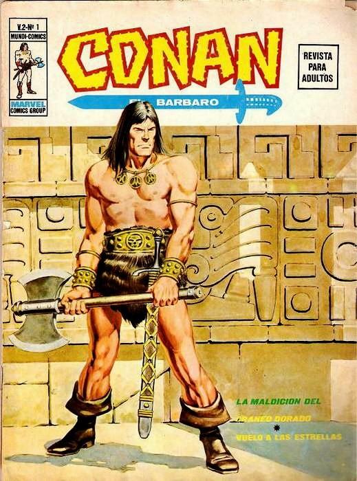 Couverture de Conan (Vol. 2) -1- La Maldición del Cráneo Dorado