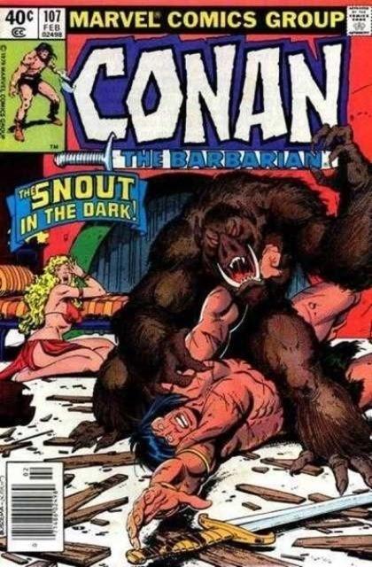 Couverture de Conan the Barbarian Vol 1 (Marvel - 1970) -107- Demon of the night!