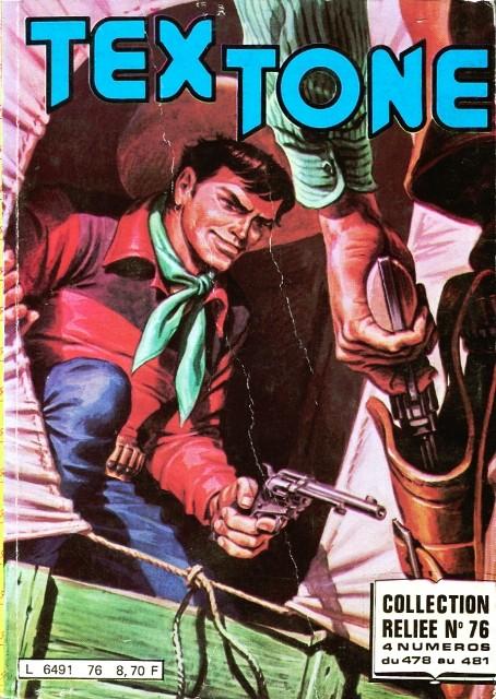 Couverture de Tex-Tone -Rec76- Collection reliée N°76 (du n°478 au n°481)