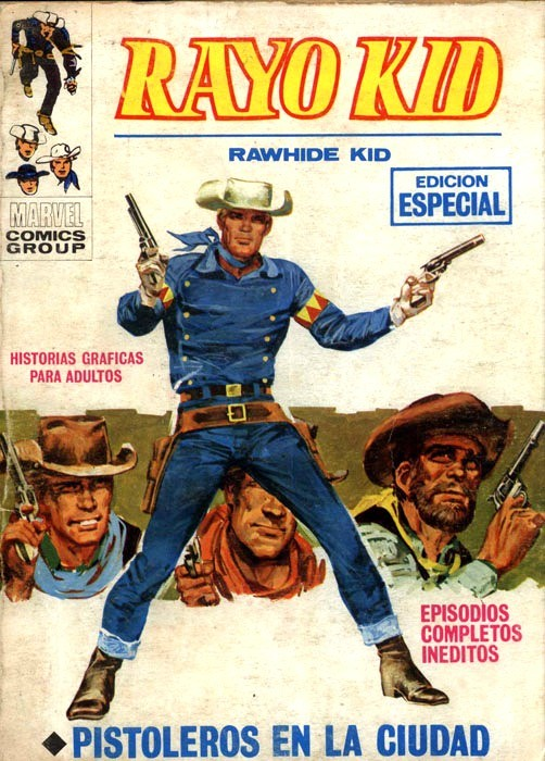 Couverture de Rayo Kid -9- Pistoleros en la ciudad