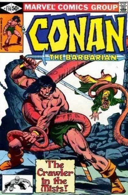 Couverture de Conan the Barbarian Vol 1 (Marvel - 1970) -116- Crawler in the mist!