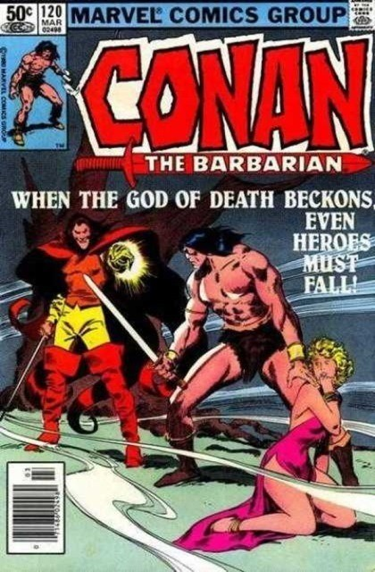 Couverture de Conan the Barbarian Vol 1 (Marvel - 1970) -120- The hand of Erlik!