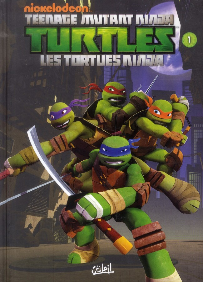 couverture de teenage mutant ninja turtles les tortues ninja 1 premiers pas - Tortue Ninja