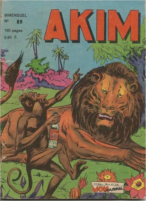 Couverture de Akim (1re série) -89- Le cimetière des Dinosaures