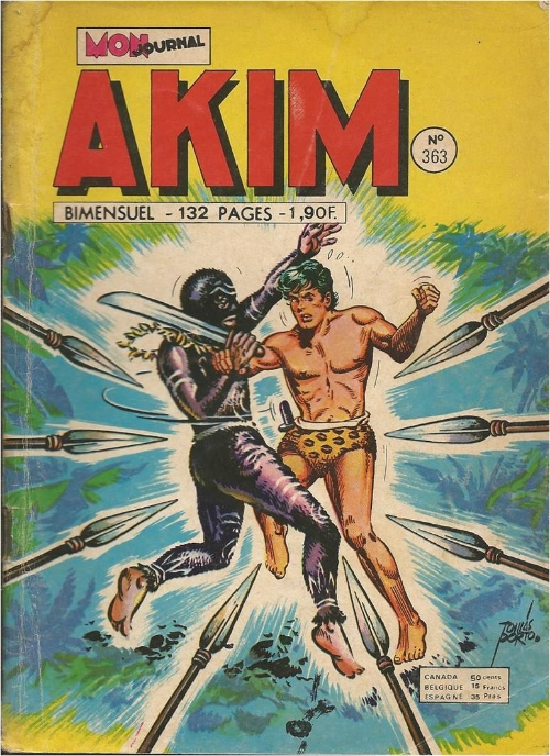 Couverture de Akim (1re série) -363- Mourrir pour Takrak