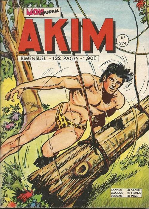 Couverture de Akim (1re série) -374- La prisonnière dans l'île