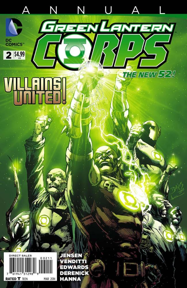 Couverture de Green Lantern Corps (2011) -AN02- Enemies Closer