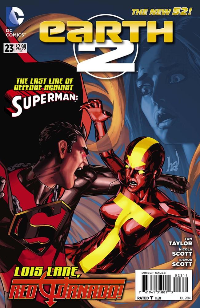 Couverture de Earth 2 (2012) -23- The Kryptonian, Part Three