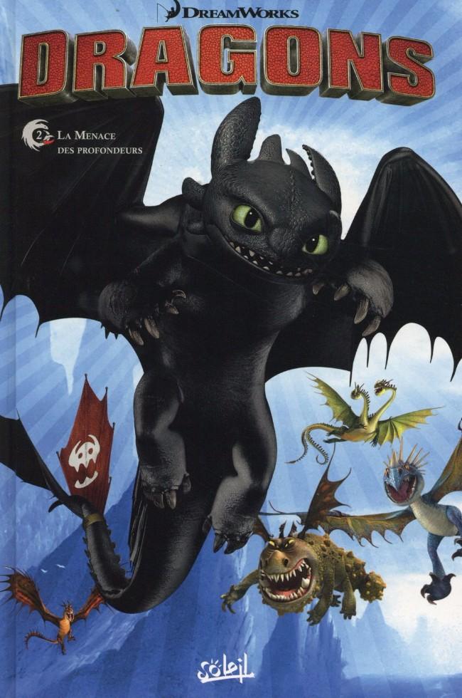 Couverture de Dragons (DreamWorks) -2- La menace des profondeurs