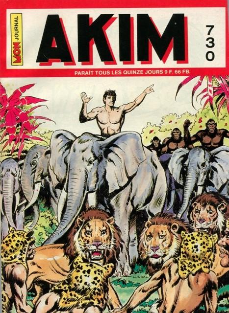 Couverture de Akim (1re série) -730- Les animaux venus d'ailleurs