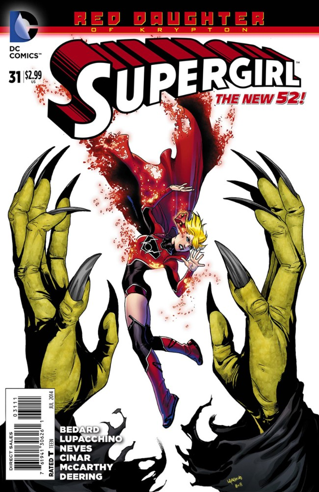 Couverture de Supergirl (2011) -31- Red Daughter ok Krypton, Part 3: Judgement Day, Part 2 of 3