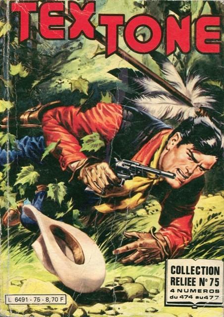 Couverture de Tex-Tone -Rec75- Collection reliée N°75 (du n°474 au n°477)