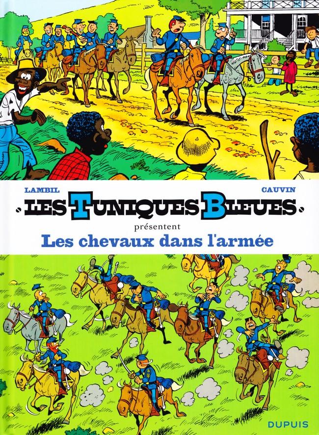 Couverture de Les tuniques Bleues présentent -2- Les chevaux dans l'armée