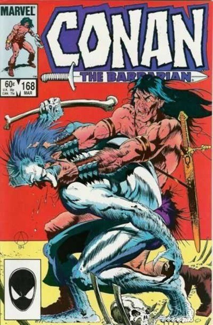 Couverture de Conan the Barbarian (1970) -168- The bird-woman and the beast!