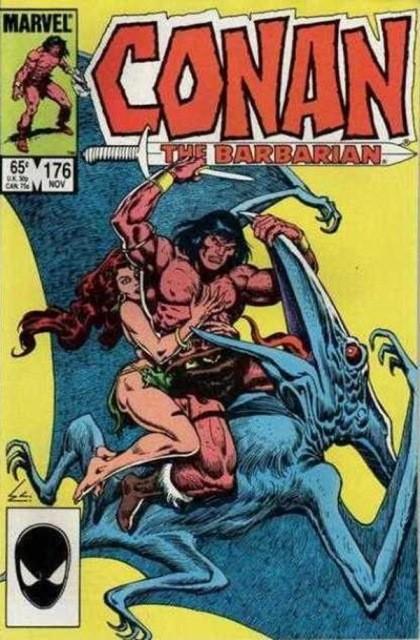Couverture de Conan the Barbarian Vol 1 (Marvel - 1970) -176- Argos rain