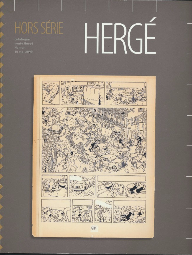 Couverture de (Catalogues) Ventes aux enchères - Divers - Hergé - 10 mai 2009 - Namur