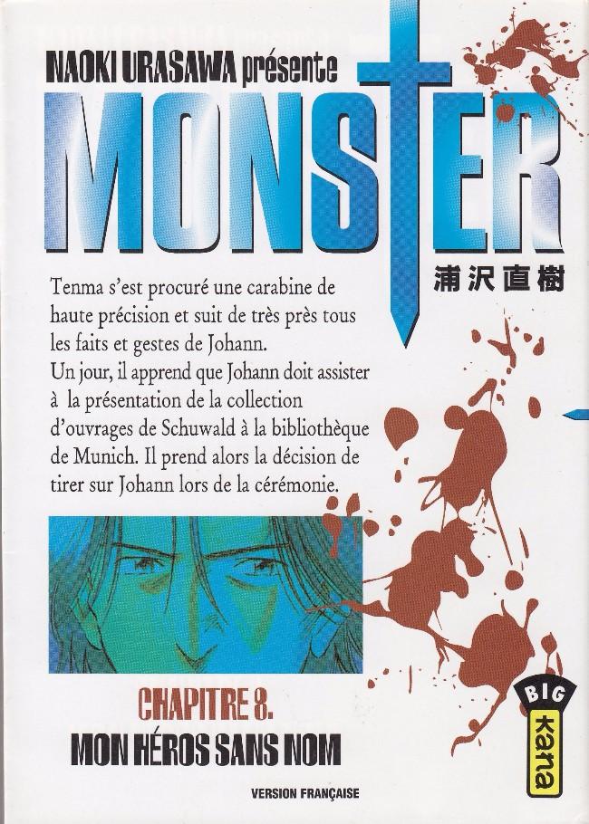 Très bien Monster (Urasawa) -8- Mon héros sans nom #HW_99