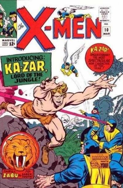 Couverture de Uncanny X-Men (The) (1963) -10- The coming of... ka-zar!