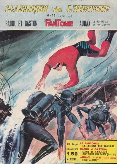 Couverture de Les héros de l'aventure (Classiques de l'aventure, Puis) -13- Le Fantôme : La lagune aux requins