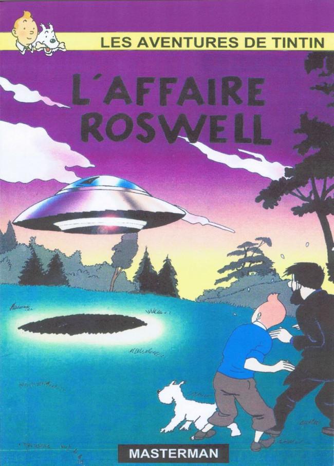 Couverture de Tintin - Pastiches, parodies & pirates - L'Affaire Roswell