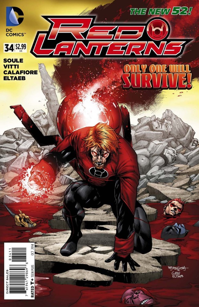 Couverture de Red Lanterns (2011) -34- Atrocities, Part 4 of 4: Redsend