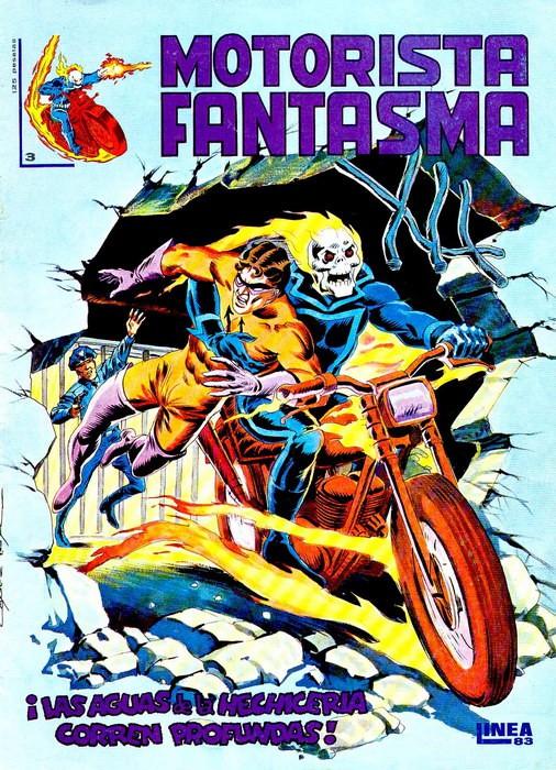 Couverture de Motorista Fantasma Vol.1 -3- ¡Las aguas de la hechiceria corren profundas!