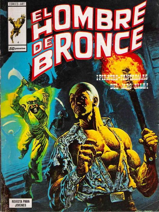 Couverture de Hombre de Bronze (El) -4- ¡Piratas-Fantasmas del más allá!