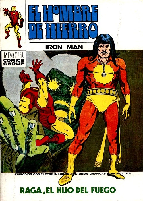 Couverture de Hombre de Hierro (El) (Iron Man) Vol. 1 -27- Raga, el hijo del Fuego