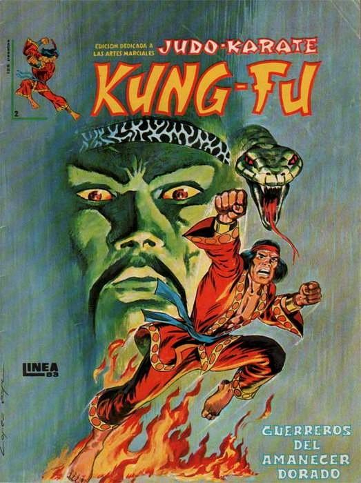 Couverture de Kung-Fu (Master of Kung Fu) -2- Guerreros del amanecer dorado
