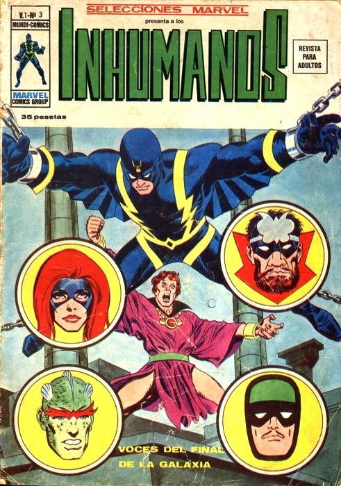 Couverture de Selecciones Marvel (Vol.1) -3- Inhumanos: Voces del final de la Galaxia