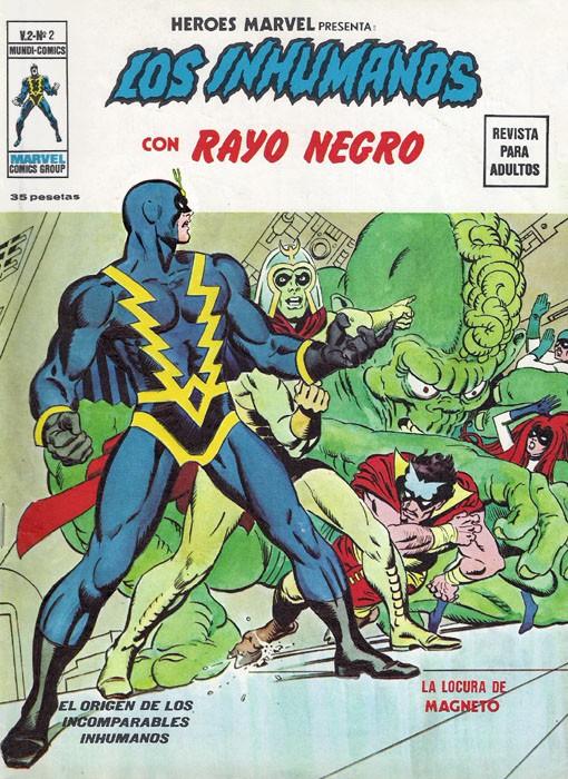 Couverture de Héroes Marvel (Vol.2) -2- Los Inhumanos con Rayo Negro