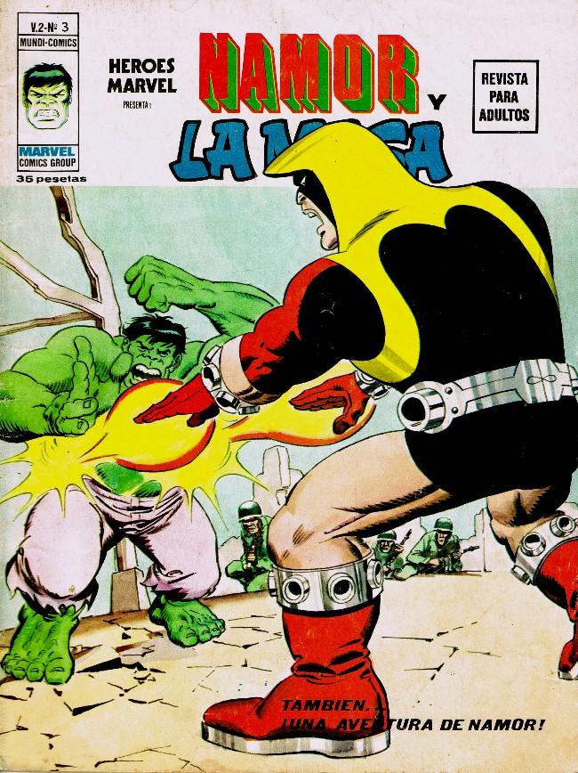 Couverture de Héroes Marvel (Vol.2) -3- Namor y La Masa