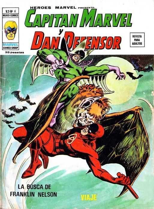 Couverture de Héroes Marvel (Vol.2) -6- Capitán Marvel y Dan Defensor