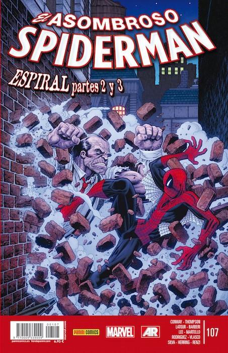 Couverture de Asombroso Spiderman -107- Espiral. Partes 2 y 3.