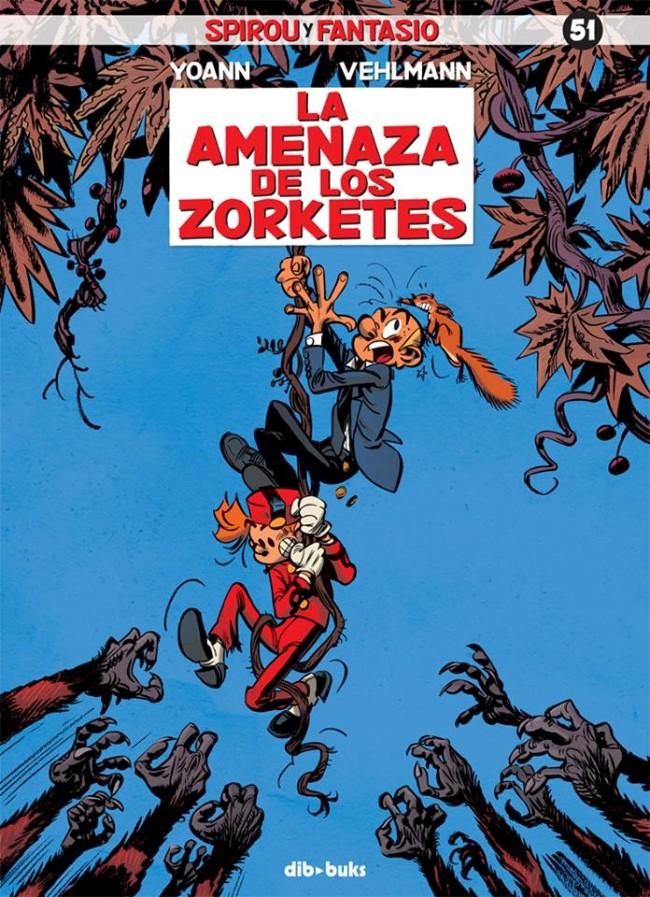 Couverture de Spirou y Fantasio (Las aventuras de) - La amenaza de los zorketes