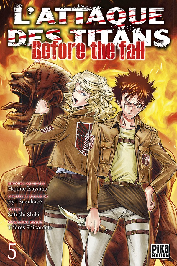 Couverture de L'attaque des Titans - Before The Fall -5- Tome 5